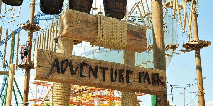Extreme Work Ahşap Adventure Park Tabelası